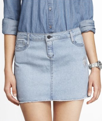Light Denim Mini Skirt